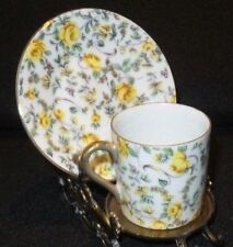 NARCO OCCUPIED JAPAN FLORAL PATTERN DEMITASSE TEA,  CUP AND SAUCER