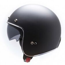 MT LE-MANS LOW PROFILE SKINNY PLAIN MATT BLACK OPEN FACE HELMET CRUISER BOBBER