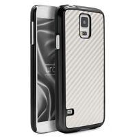 Urcover Samsung Galaxy S5 Carbon Style Schutz Hülle Backcase Cover Tasche Schale