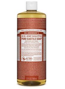 Dr Bronner Eucalyptus Castile Liquid  Body Soap - 946ml