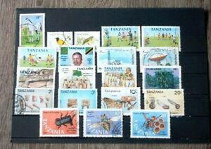 TANSANIA: Small Lot of used Stamps/Kleines Lot mit gestempelten Briefmarken