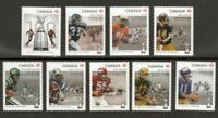 CFL GREY CUP = QPack DIE CUT = Full set = 9 BK stamps  MNH-VF Canada 2012