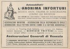 Z1894 Assicurazioni Generali di Venezia - Pubblicità d'epoca - 1929 Old advert