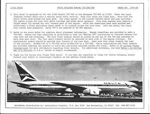 Flight Path Delta Airlnies Boeing 767-200/300 Décalques 1/144 FP44 02 Jf