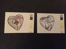 Paire timbres adhésifs CHANEL n° 48a et n° 49a du 1er tirage de 2004 cote Maury
