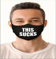 This Sucks Handmade, Washable, Reusable Quality Face Mask - Quarantine Sucks