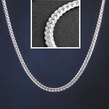 20Inch 925 Sterling Silver Plated Jewelry 5MM Figaro Snake Chain Link Necklace