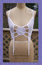 NEW size M 6-8 White Frederick's of Hollywood Lingerie Teddy and Thong