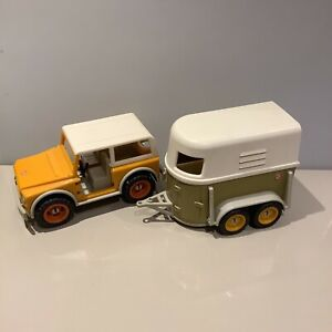 Schleich Retired Pick Up Truck with Horse Box /Trailer Rare Collectors
