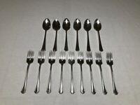 Vintage Oneida Lot Hotel Silver Plate Flatware. 6 Table Spoons & 9 Forks.