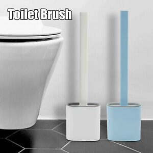 Silicone Toilet Brush with Toilet Brush Holder Wall-Mounted Bendable Clean Brush