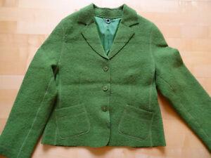 Concept UK Wolljacke, Walkjacke, Blazer, gekochte Wolle, grün, 40, gut