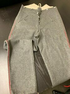 WW1 Imperial German Repro. M1907/14 Grey Wool Piped Trousers - by Schipperfabrik