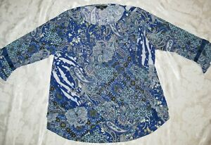 Motto blue patterned top Size 12.