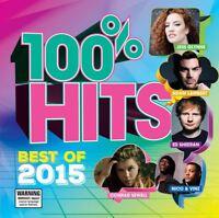 100% Hits Best Of 2015 - Ed Sheeran,Sia,& More CD Album NEW