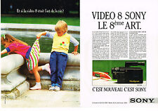 PUBLICITE ADVERTISING 064 1987  SONY   vidéo 8   ( 2 pages)   handycam
