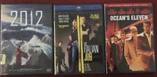 2012 The Italian Job Ocean's Eleven Dvd Lot