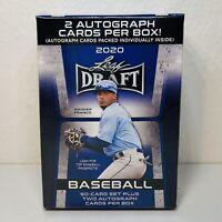 NEW 2020 Leaf MLB Draft Baseball Factory Sealed 50 card Blue Box 2 Autographs🔥