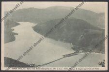 COMO LANZO D'INTELVI 60 SIGHIGNOLA - LAGO LUGANO - MELIDE PONTE Cartolina 1927