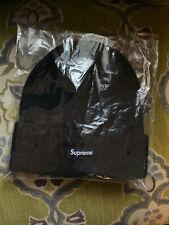 Supreme F/W 2019 Box Logo Basket Weave Beanie S Logo BLACK Rare Camp Cap Hat NYC