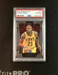 2015-16 Panini Select Basketball Lebron James #47 PSA 10