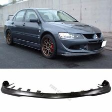 Fit for 03-05 Mitsubishi Lancer Front Bumper Lip EVO 8VIII JDM PU Material