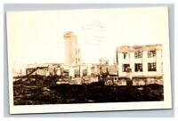 Vintage Early 1900's RPPC Postcard Burned Down Mill Oregon POSTED