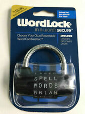 Wordlock in Wort : Secure Gehärtet Stahl Schloss Rückstellbare Kombination
