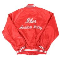 VTG Auburn Sportswear Men XXL 58 Miller American Racing Satin Bomber Jacket Mark