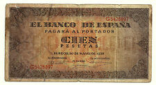 BILLETE DE 100 PESETAS DE 1938 (BC) BURGOS (SERIE G)