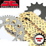 GOLD X-Ring Chain & Sprocket Set Kit YAMAHA XJR1300 2002-03 *18-38 SPROCKETS*