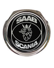 Saab Scania Black Design Car Grille Badge - FREE FIXINGS