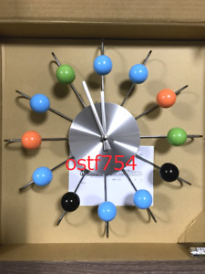 George Nelson Atomic Ball Wall Clock Multi Color Re-Product Design Furniture
