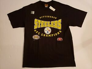 Vintage 1995 Pittsburgh Steelers AFC Champions Short Sleeve Shirt Size Large
