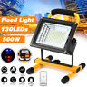 500W 130 LED Portable Outdoor Camping Flood Light Spot Work Lamp