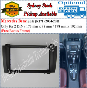 Fascia facia Fits Mercedes Benz SLK (R171) 2004-2011 Double 2 Two Din Dash Kit-