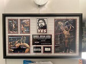 WWE Wrestling Daniel Bryan Autographed WrestleMania 30 Plaque 201 of 500