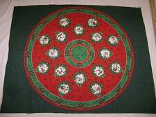 """Vintage Wamsutta/Hallmark 34"""" Tree Skirt or Table Topper Panel"""