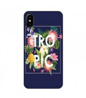 Coque Iphone X Tropical bleu ananas summer exotique beach