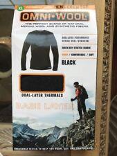 NEW Omni Wool Mens Sz XL Crew Top Dual Layer Thermals Base Layer Merino Wool
