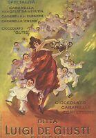 W7610 Bonbons Giusti - Illustration À Couleurs - Publicité Du 1920 - Old Ad
