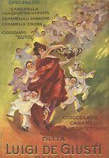 W7610 Caramelle Giusti - Illustrazione a colori - Pubblicità del 1920 - Old ad