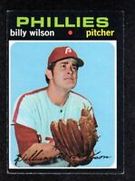 "1971 Topps #192 Billy Wilson Philadelphia Phillies Baseball Card  ""mrp""  EX"