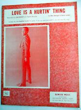 LOU RAWLS Sheet Music LOVE IS A HURTIN' THING Criterion Publ. POP Soul EZ Listen