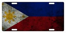 PHILIPPINES Flag Custom License Plate NATIONAL Emblem DIRTY Version