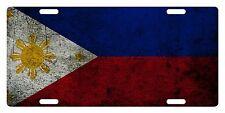 PHILIPPINES Flag Custom License Plate NATIONAL Emblem DIRTY Version
