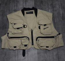 Simms Fishing Men's Tan Nylon Fishing Vest Size XL