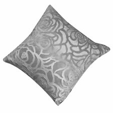 Throw Pillow Case Square Cushion Cover Shell Car Home (Silver Gray) LW