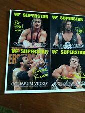 WWE WWF RAZOR RAMON HART DIESEL HBK 1995 COLISEUM SUPERSTAR PROMO STICKERS UNCUT