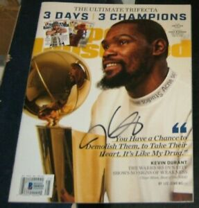 KEVIN DURANT Golden State ST Warriors SIGNED SPORTS ILLUSTRATED SI BAS #S64111
